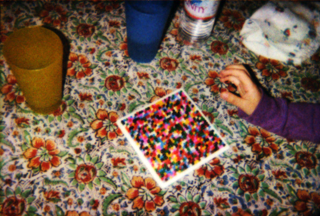 Beads on Tablecloth